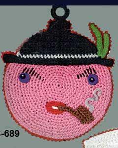 Funny Face Potholder Pattern Crochet Patterns