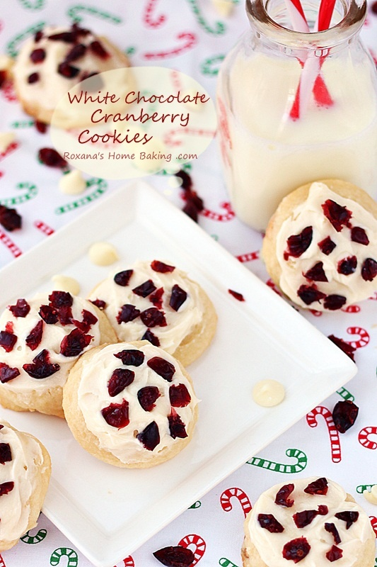 white chocolate cranberry cookies | ~Deliciousness~ | Pinterest