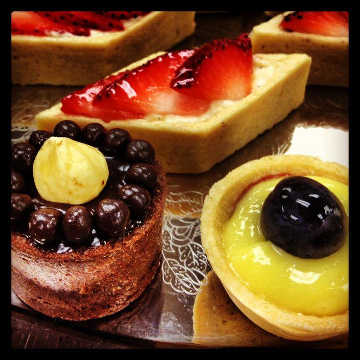 ... hazelnut tart, Lemon Curd Tart and pastry cream fruit tart