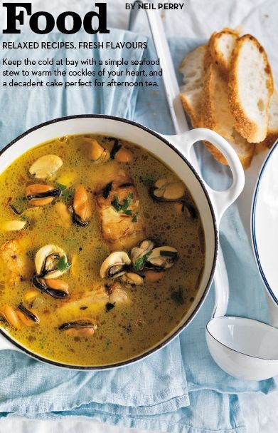Fish, Mussel and Saffron Stew | Get In My Belly! (Food) | Pinterest