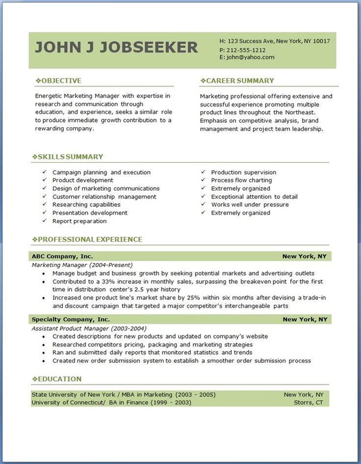 resume template word creative