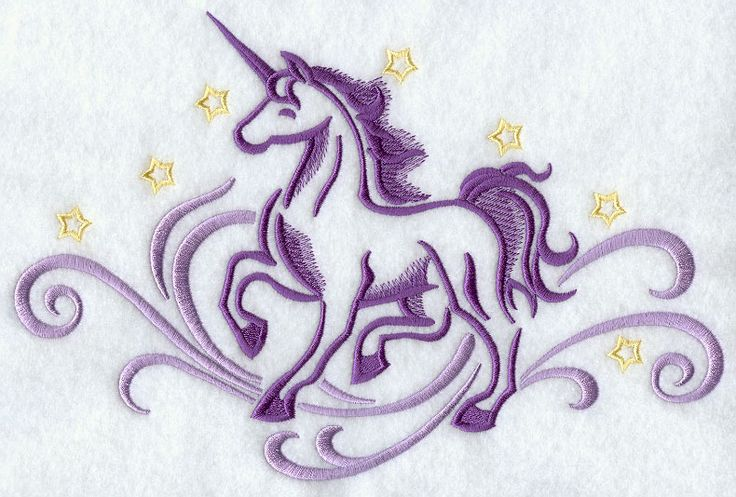 Unicorn Embroidery Pattern  Horn Count  1  Pinterest