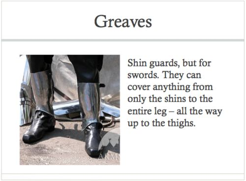 Greaves definition | Arms and armor | Pinterest