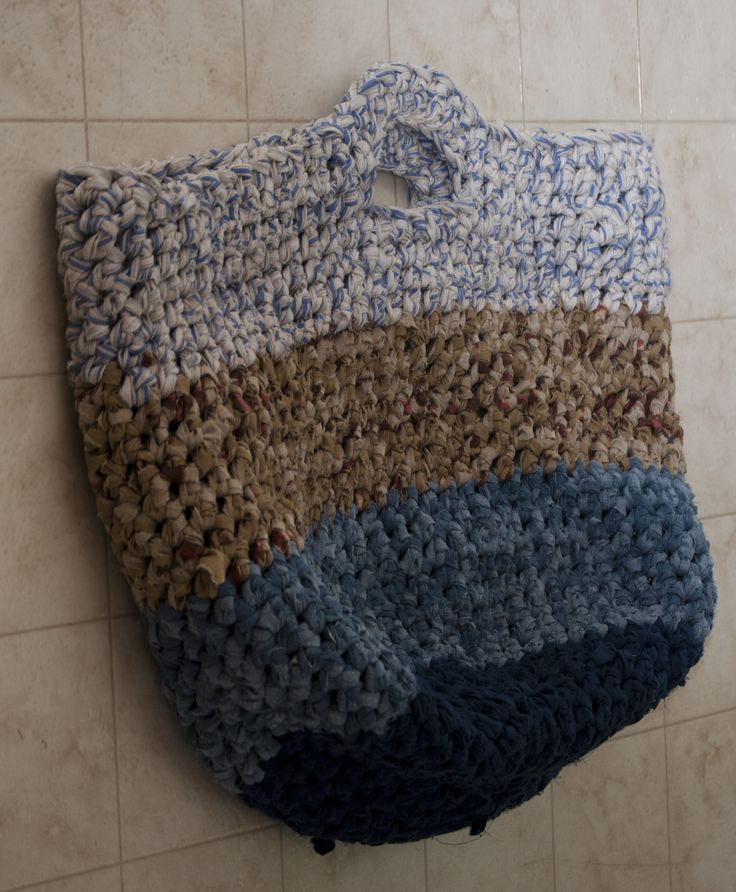 rag crochet laundry bag. I made this one for myself...i LOVE it. Big ...