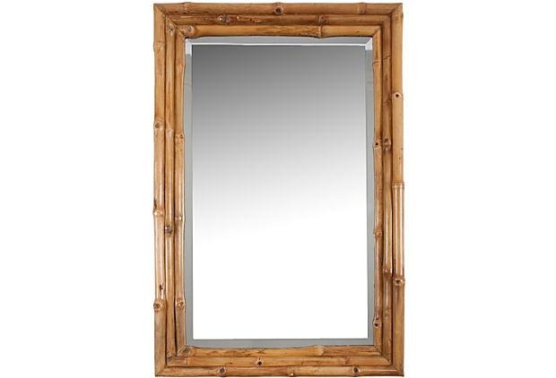 Bamboo Framed Mirror on OneKingsLane.com