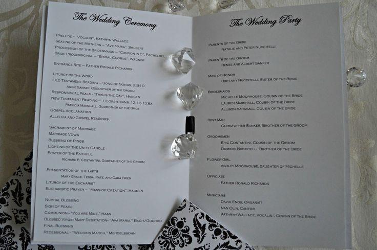 Church Program Wedding Day Pinterest
