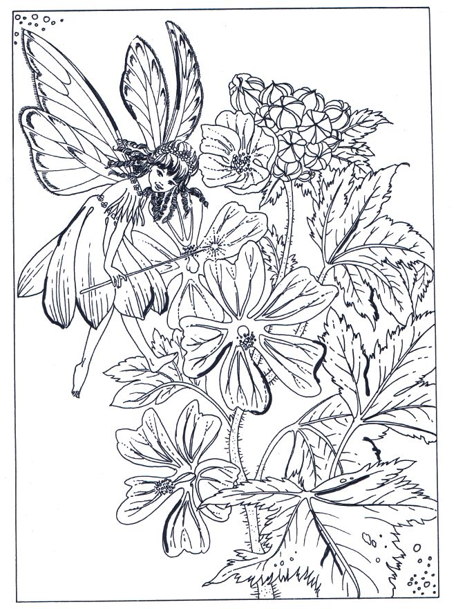 Garden Flowers Coloring Pages #1