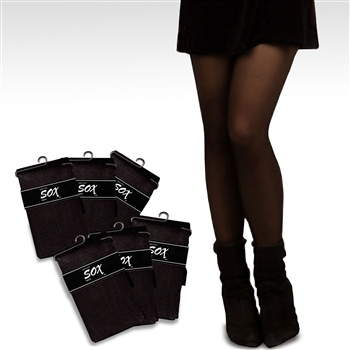 Soxnet Solid Black Women's Fashion Tights, 6-Pack List Price: $29.99