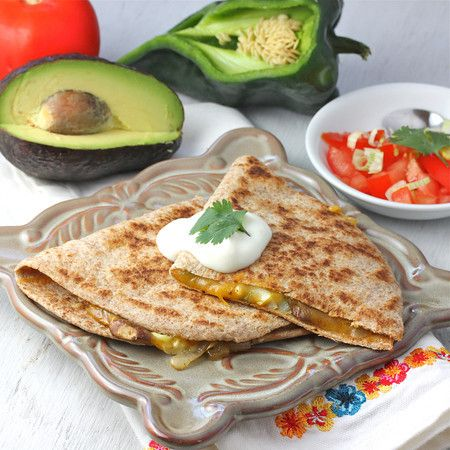 Mushroom Poblano Quesadillas | What would you bring to a picnic? | Pi ...