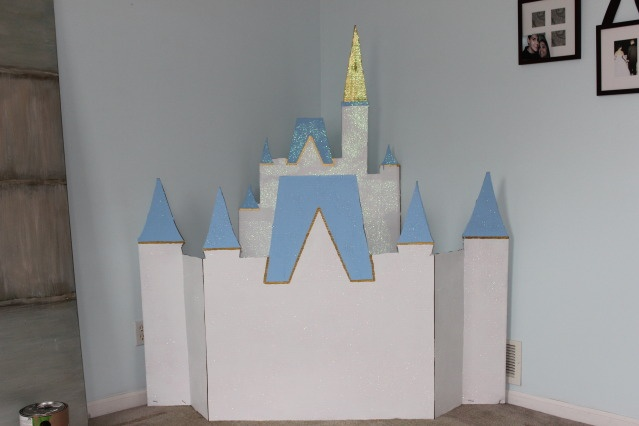 how to make a cardboard disney castle