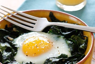 Baked Eggs with Wilted Baby Spinach | vegetarianism | Pinterest