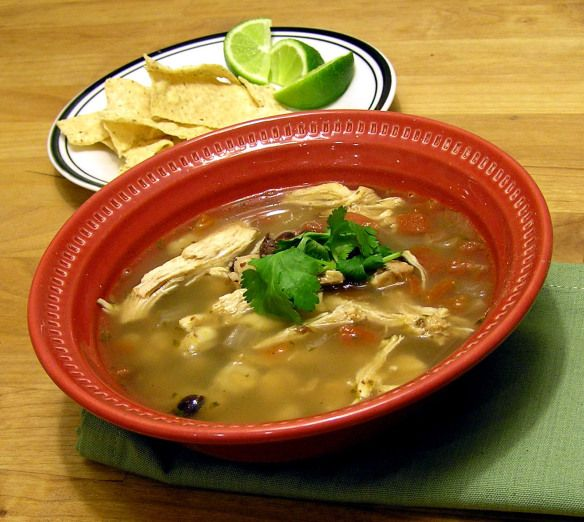 Black Bean, Chicken, and Hominy Soup | Mexican Food | Pinterest