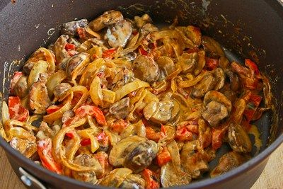 Vegetarian Mushroom Stew with Red Bell Pepper, Onion, and Paprika | R ...
