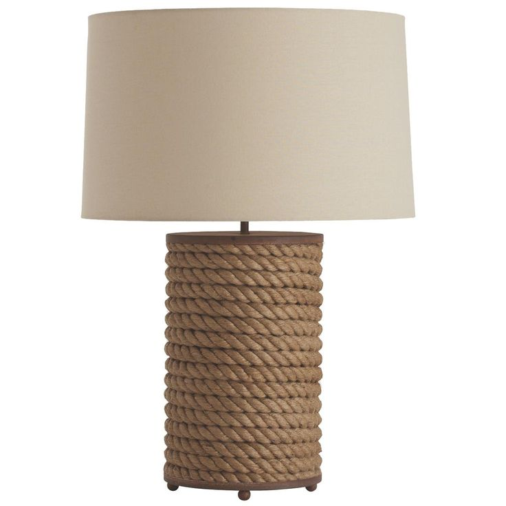 Wrapped Jute Rope Table Lamp