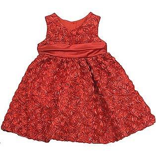 Rare too girl s infant toddler dress rosette soutache red