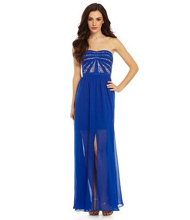 Aidon aidon mattox chiffon gown available at dillards com dillards