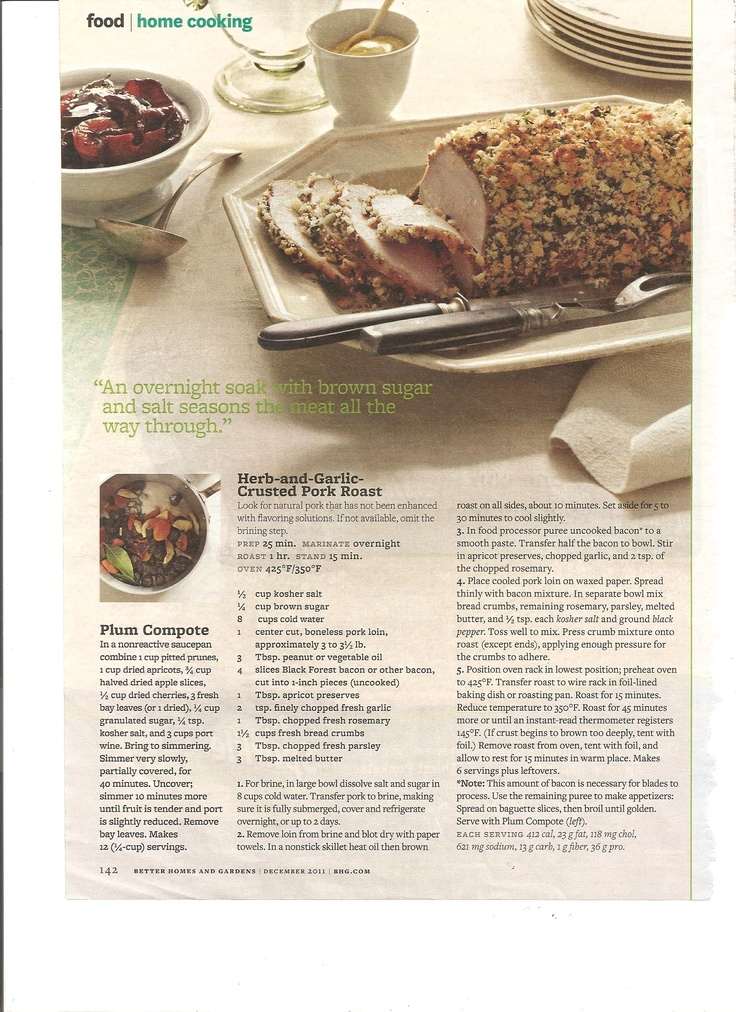 Herb and Garlic Crusted Pork Roast | Family Christmas | Pinterest