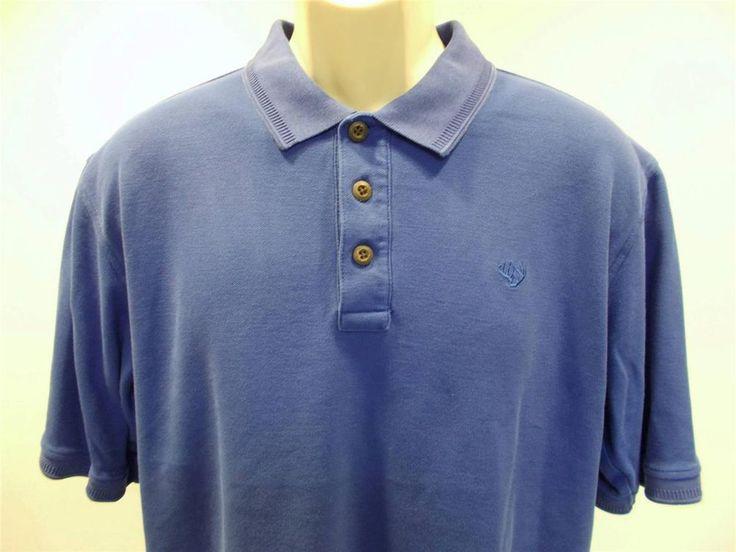 Mens cabela 39 s short sleeve polo shirt blue size large for Cabela s columbia shirts