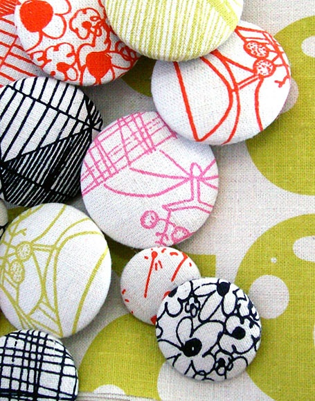 love making fabric buttons