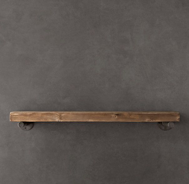 Reclaimed Wood Wall Shelf Emc Pinterest