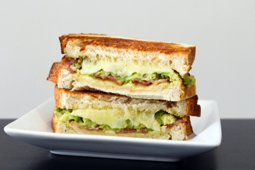 Avocado & Bacon Grilled Cheese = tonight's dinner with potato soup! :)