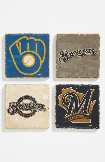 Milwaukee Brewers' Marble Coasters (Set of 4) available at #Nordstrom