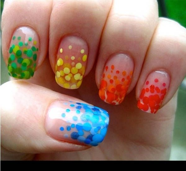Bubble Nail Art: Rainbow Bubble Nail Art