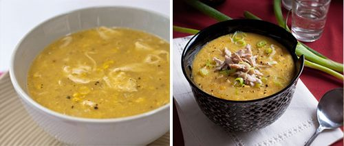 chicken + corn + egg soup (revisited)