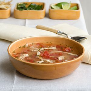 Tex-Mex Chicken-and-Rice Soup Recipe | Recipes | Pinterest