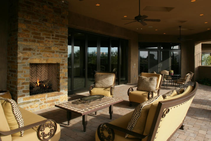 Covered Patio With Fireplace Outdoor Living Pinterest