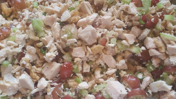 Chicken Salad with Grapes and Walnuts | I'm Shirley Ewer in training ...