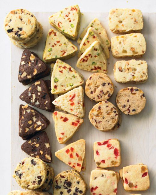 ... -Cherry Coins Apricot-Pistachio Triangles Almond and Candied Or