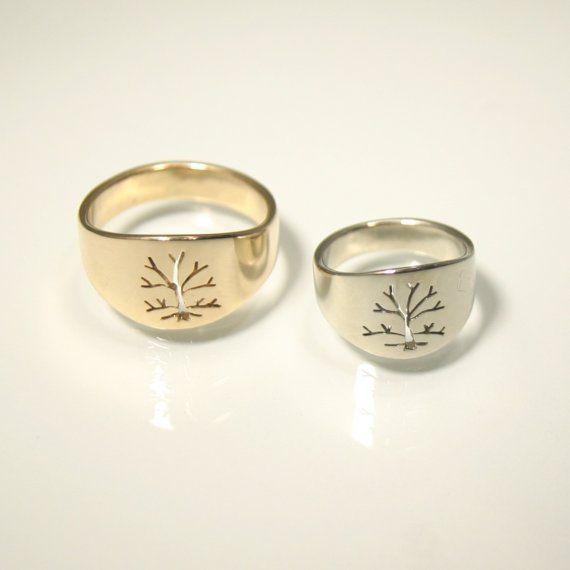 ... Life Ring- women's 14k gold woodland wedding band. 595.00, via Etsy