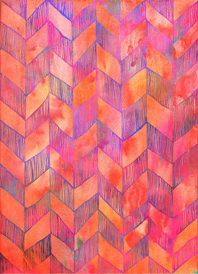 pinks violet and oranges