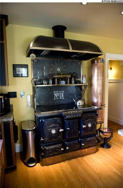 Steampunk kitchen my style pinterest for Kitchen designs steampunk