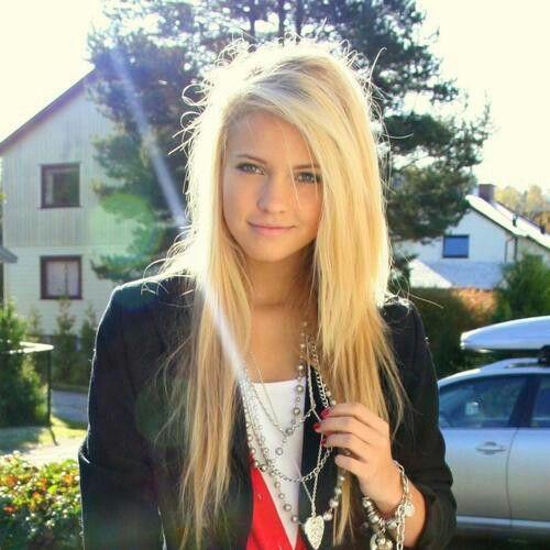 Beautiful Blonde Straight Long Hair Blondies Pinterest