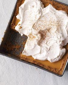 Pumpkin Icebox Pie, Recipe from Everyday Food, November 2009