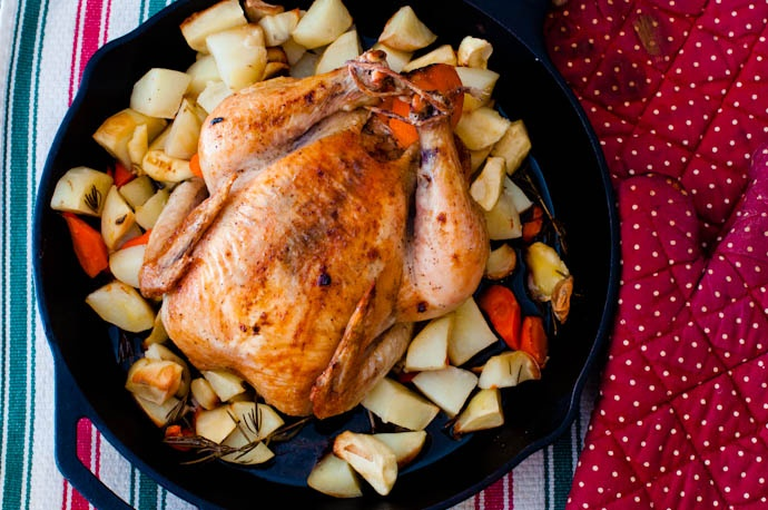 Orange and Rosemary Skillet Roast Chicken | Cooking Basics | Recipe