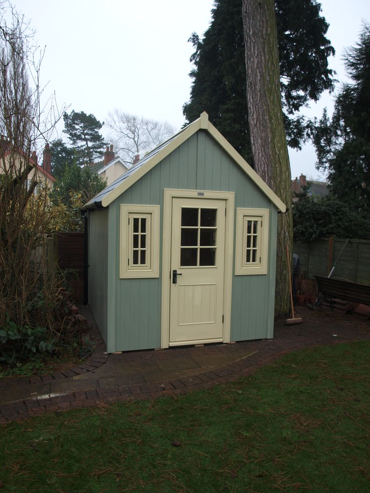 Two Tone Potting Shed Garden Ideas Pinterest