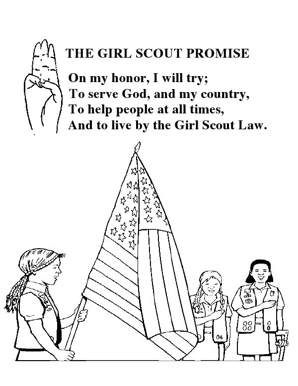 Girl Scout Promise Coloring Sheet Girl Scouts Pinterest Scout And Promise Coloring Pages Free