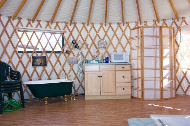Bathroom ideas for yurt pinterest for Yurt bathroom designs