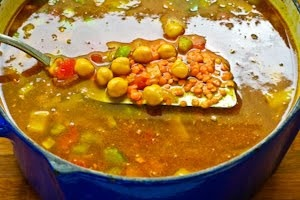 Spicy Red Lentil and Chickpea Stew (Paula's Moroccan Lentil Stew) | R ...