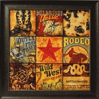 western framed print from Lone Star Western Decor $150