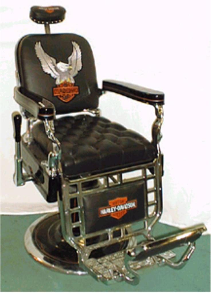 Antique Barber Chair HARLEY DAVIDSON