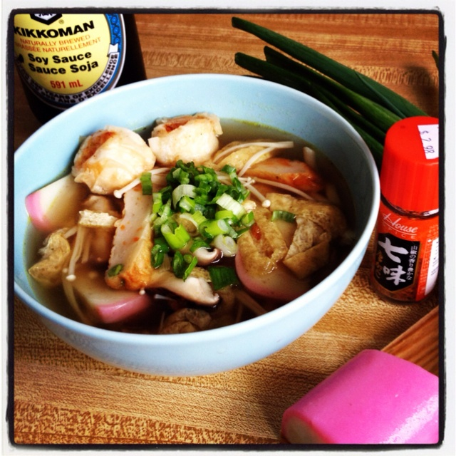 ... noodle broth with lemongrass and coriander shrimp and noodle salad