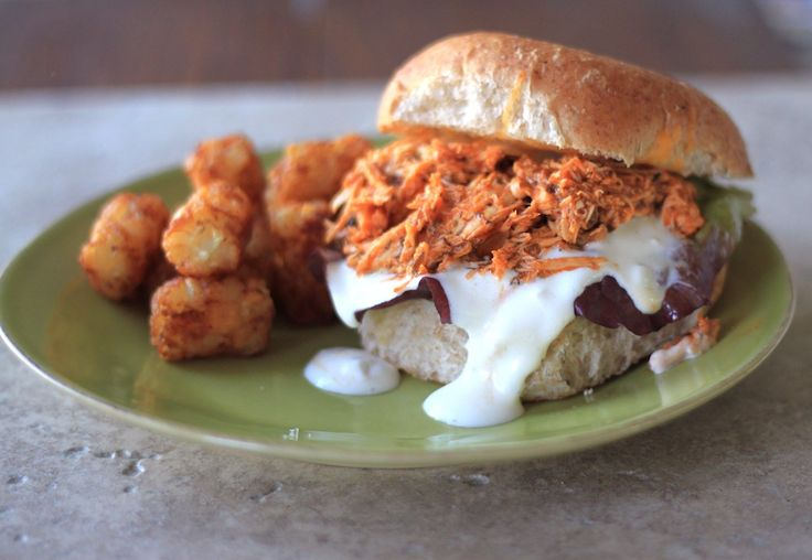 Slow cooker buffalo chicken sandwiches | Recipe