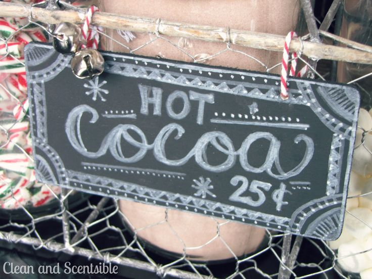 From Clean & Scentsible Blog: Candy Cane Hot Cocoa Bar. Also idea how ...