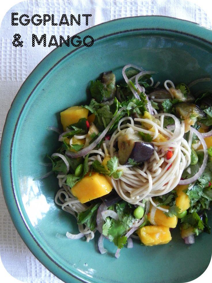 eggplant and mango soba noodles   Food   Pinterest