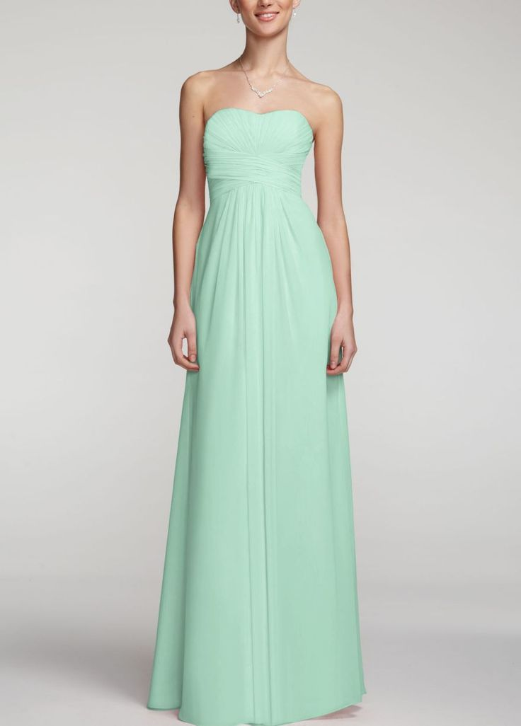 Bridesmaid dress mint david 39 s bridal wedding pinterest for Davidsbridal com wedding dresses