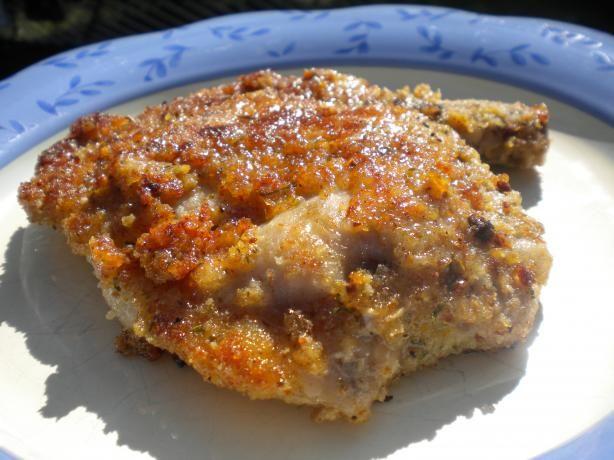 Kittencal's Italian Breaded Baked Parmesan Pork Chops   Recipe